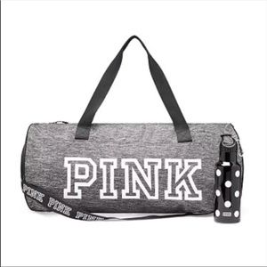 VS PINK Duffle Bag & Water Bottle